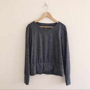 Lucy Long Sleeve Gray Activewear Shirt